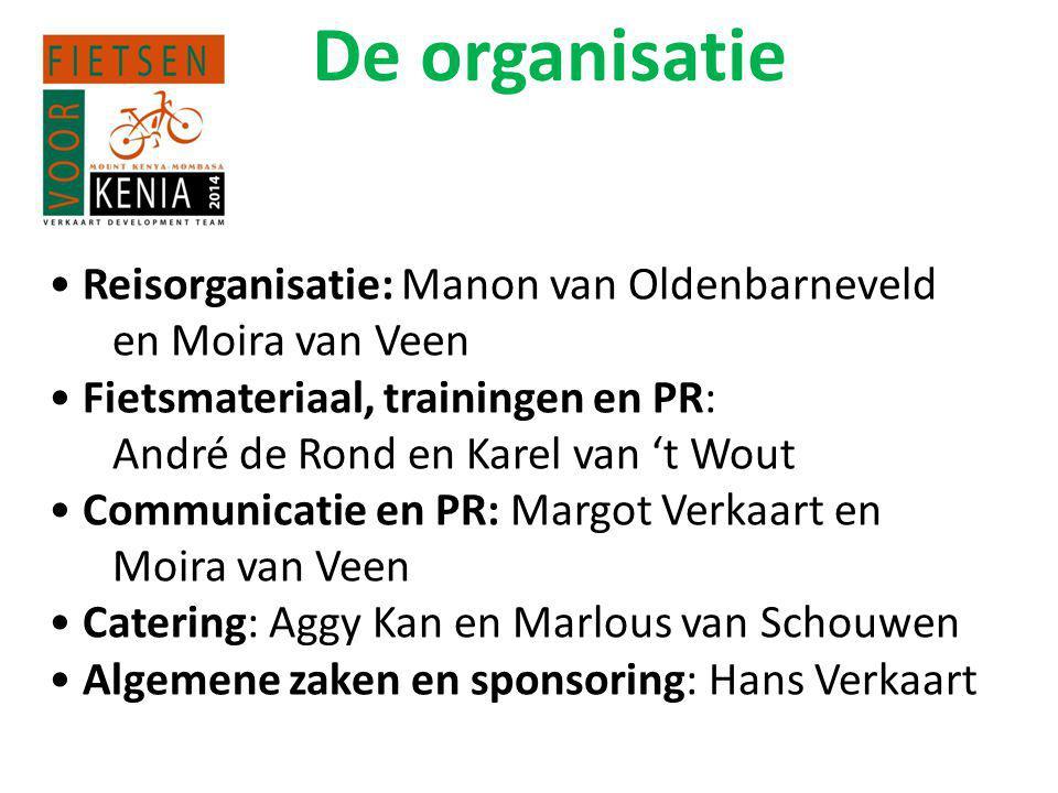 De organisatie Reisorganisatie: Manon van Oldenbarneveld