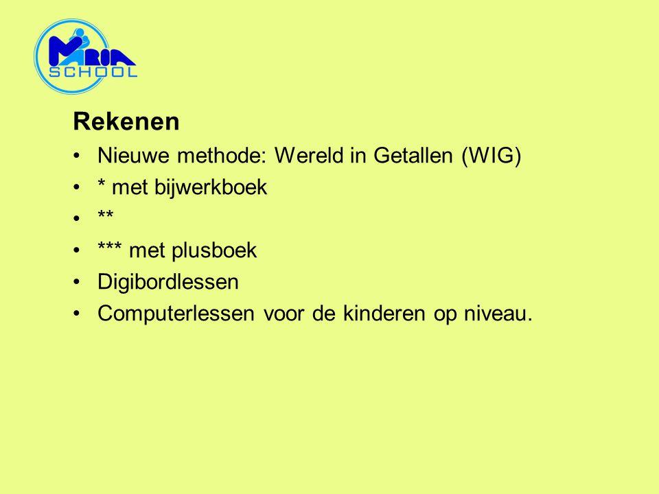 Rekenen Nieuwe methode: Wereld in Getallen (WIG) * met bijwerkboek **