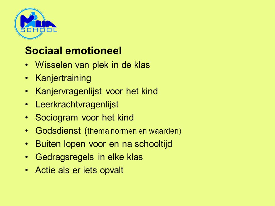 Sociaal emotioneel Wisselen van plek in de klas Kanjertraining