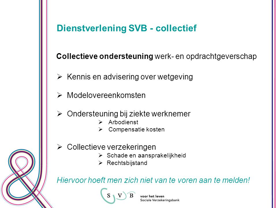 Dienstverlening SVB - collectief