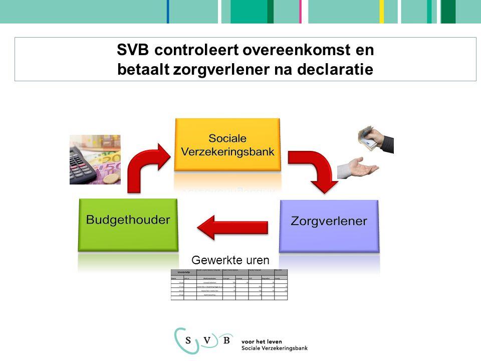 SVB controleert overeenkomst en betaalt zorgverlener na declaratie