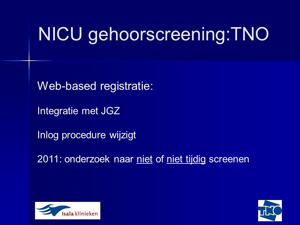NICU gehoorscreening:TNO
