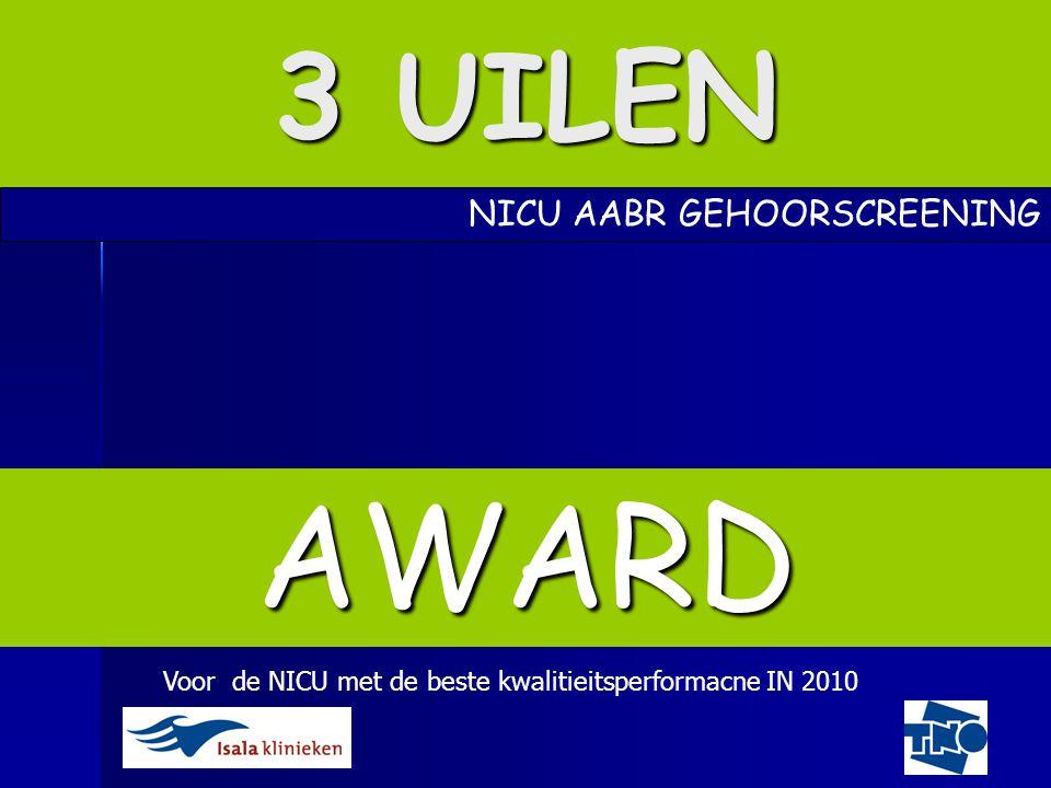 AWARD 3 UILEN NICU AABR GEHOORSCREENING