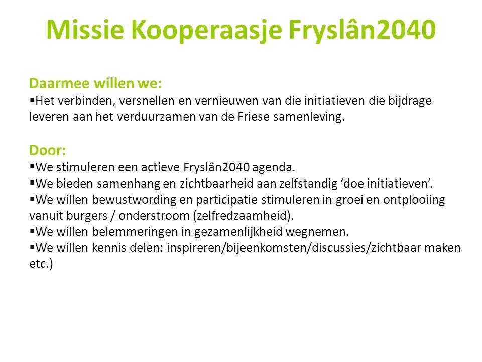 Missie Kooperaasje Fryslân2040