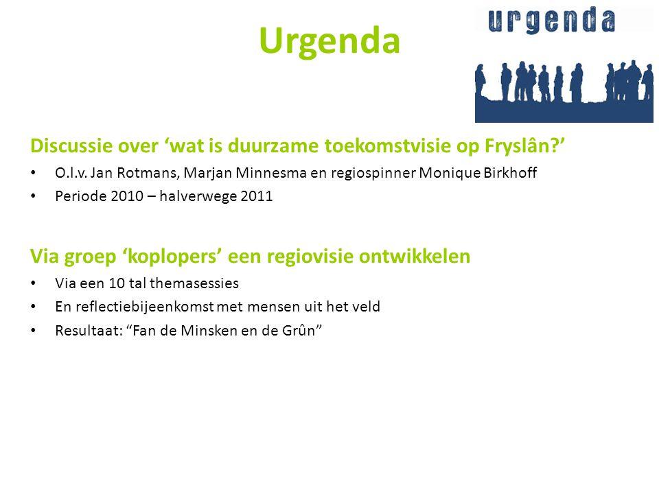 Urgenda Discussie over 'wat is duurzame toekomstvisie op Fryslân '