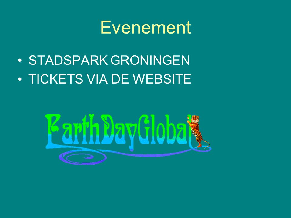 Evenement STADSPARK GRONINGEN TICKETS VIA DE WEBSITE