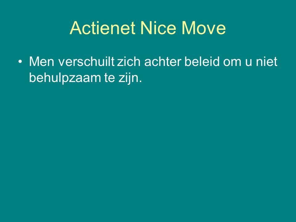 Actienet Nice Move Men verschuilt zich achter beleid om u niet behulpzaam te zijn.