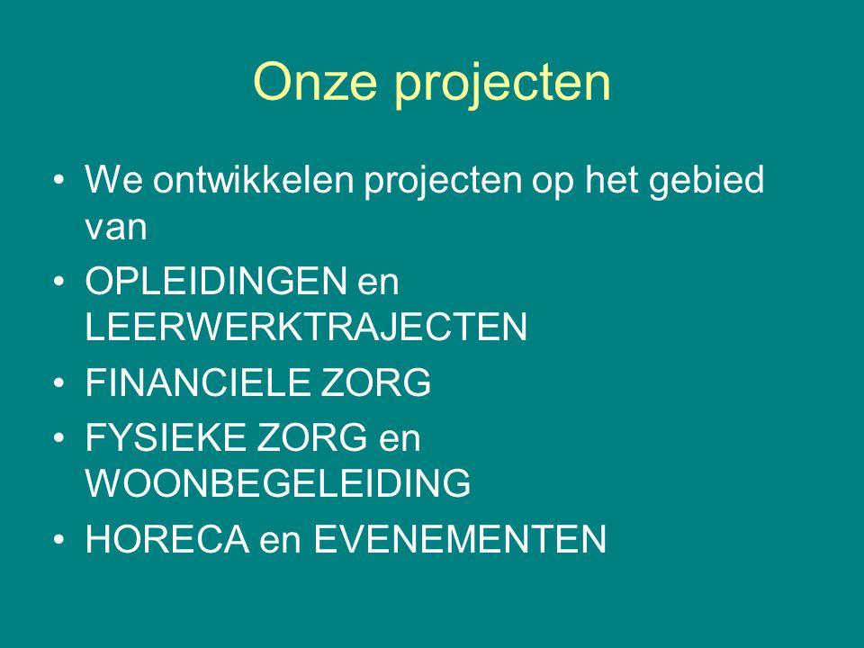 Onze projecten We ontwikkelen projecten op het gebied van