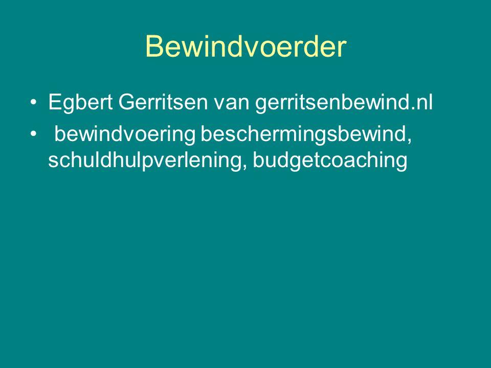Bewindvoerder Egbert Gerritsen van gerritsenbewind.nl
