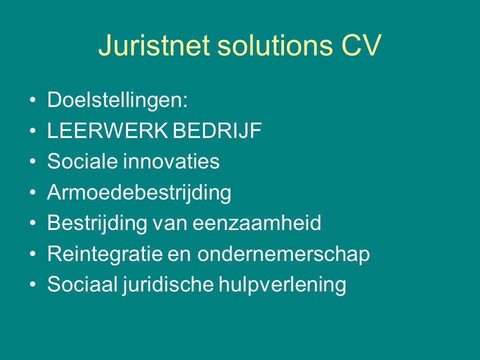Juristnet solutions CV
