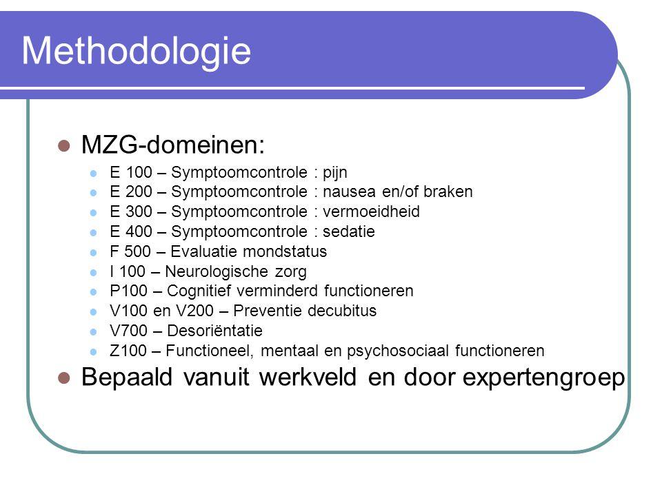 Methodologie MZG-domeinen: