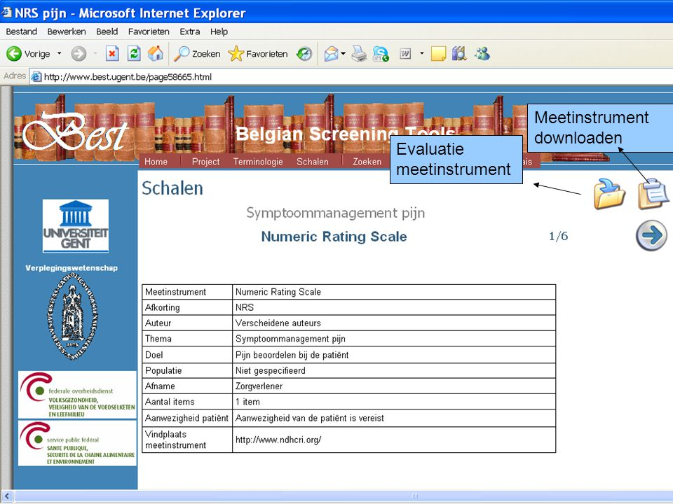 Meetinstrument downloaden Evaluatie meetinstrument