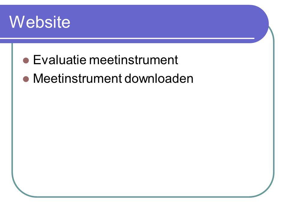 Website Evaluatie meetinstrument Meetinstrument downloaden