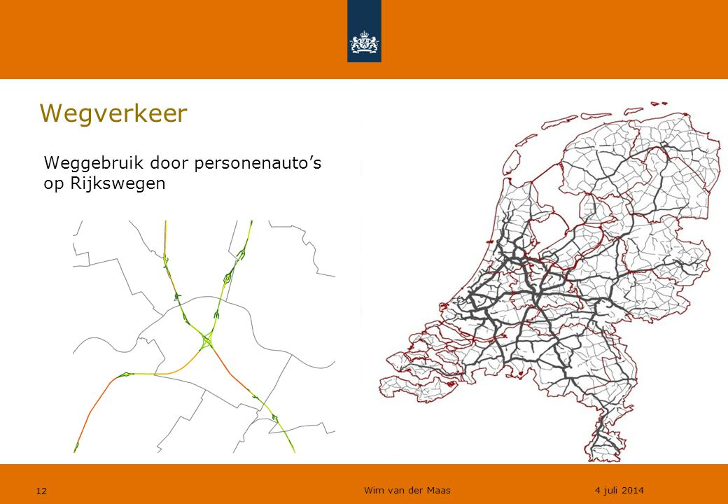 Wegverkeer Weggebruik door personenauto's op Rijkswegen
