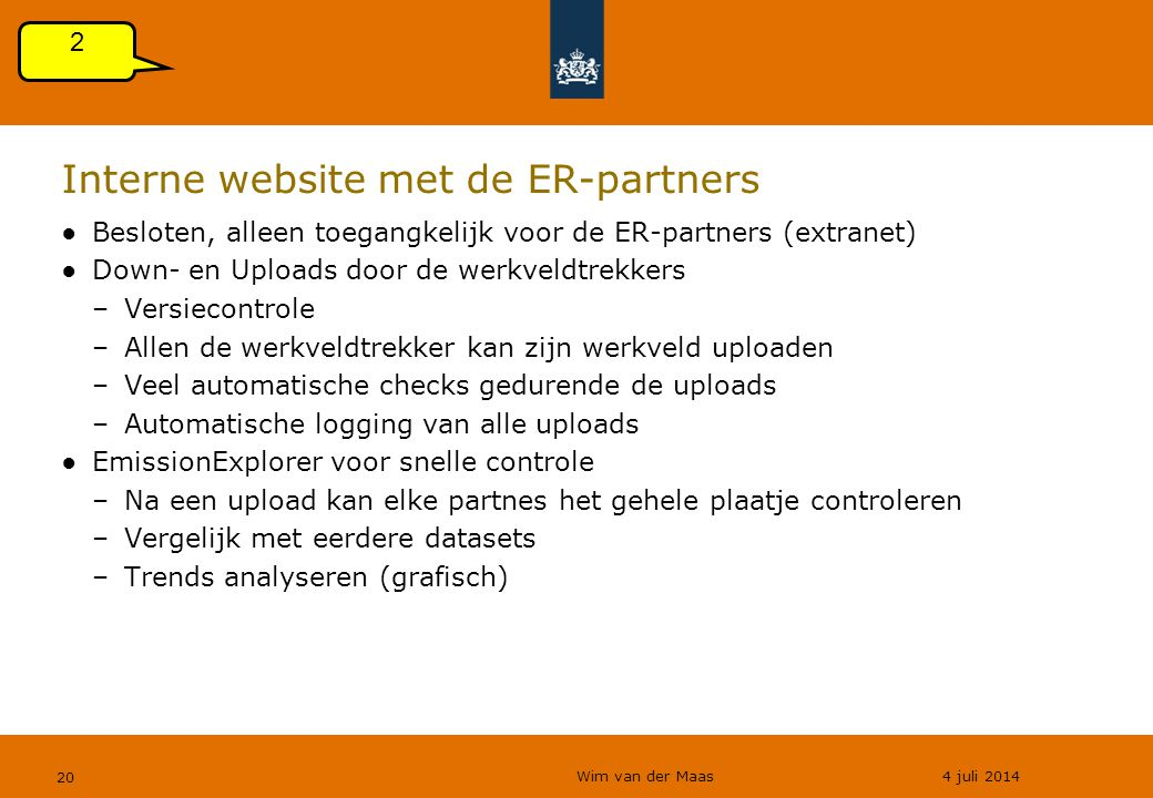 Interne website met de ER-partners