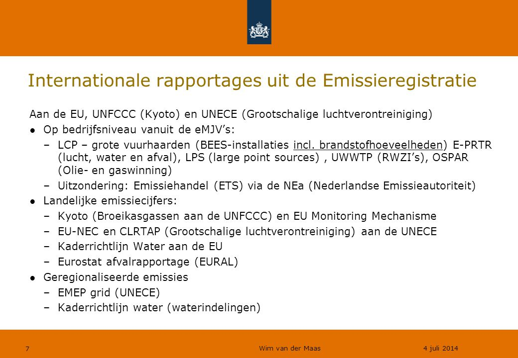 Internationale rapportages uit de Emissieregistratie