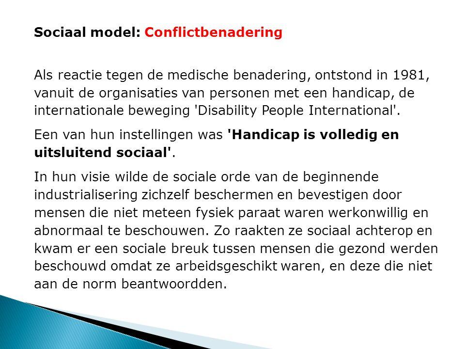 Sociaal model: Conflictbenadering