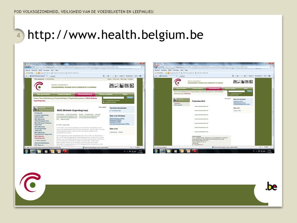 http://www.health.belgium.be