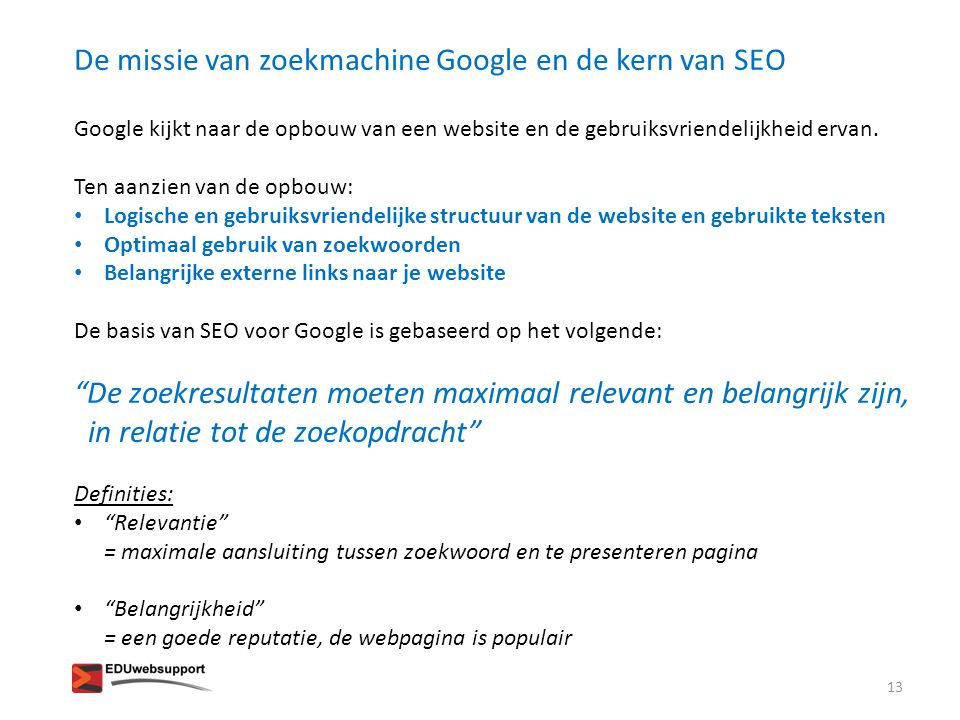 De missie van zoekmachine Google en de kern van SEO