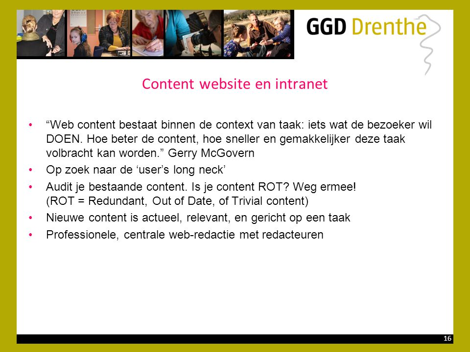 Content website en intranet