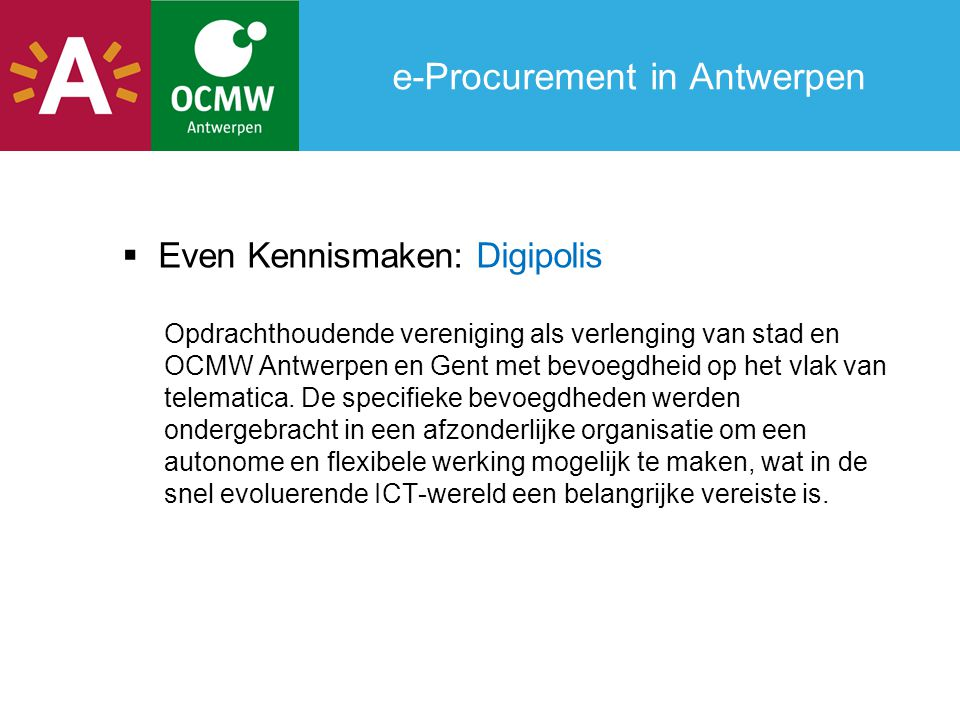 e-Procurement in Antwerpen