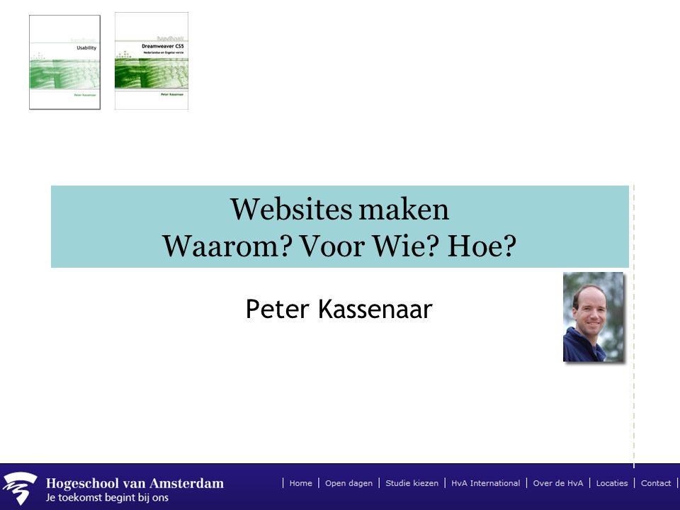 Websites maken Waarom Voor Wie Hoe