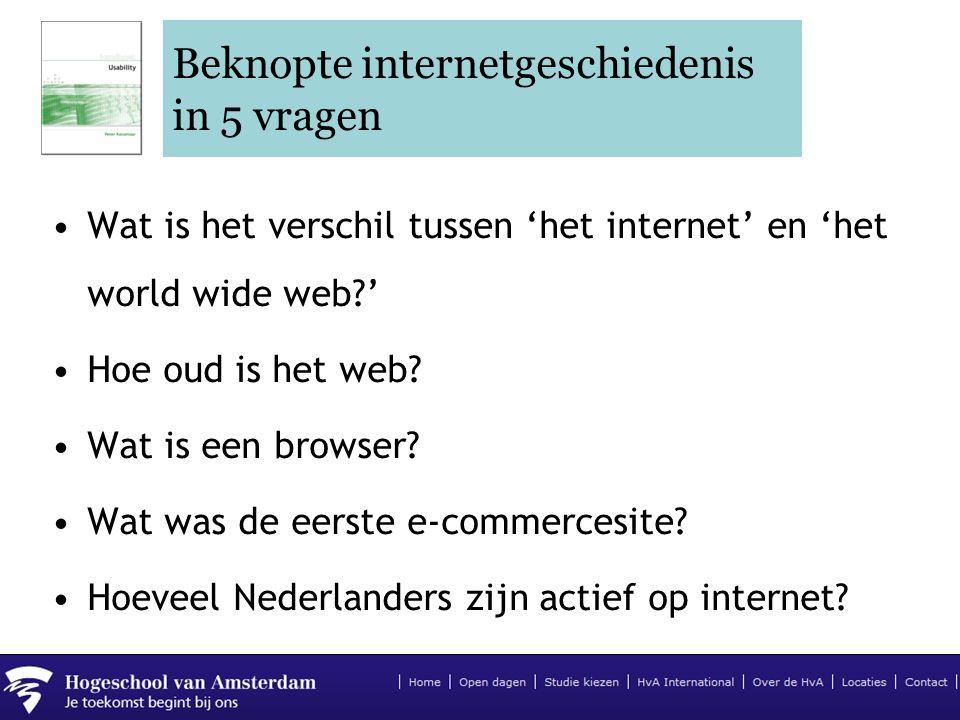 Beknopte internetgeschiedenis in 5 vragen