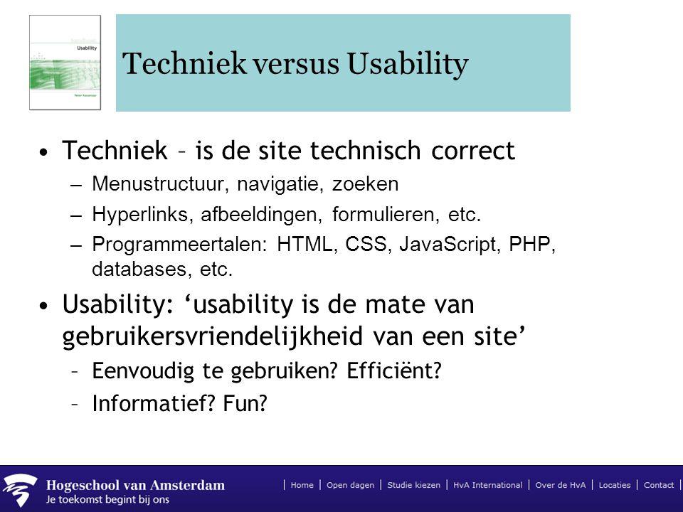 Techniek versus Usability