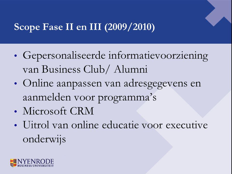Gepersonaliseerde informatievoorziening van Business Club/ Alumni