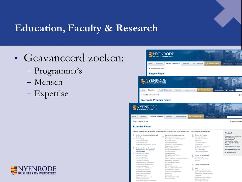 Education, Faculty & Research