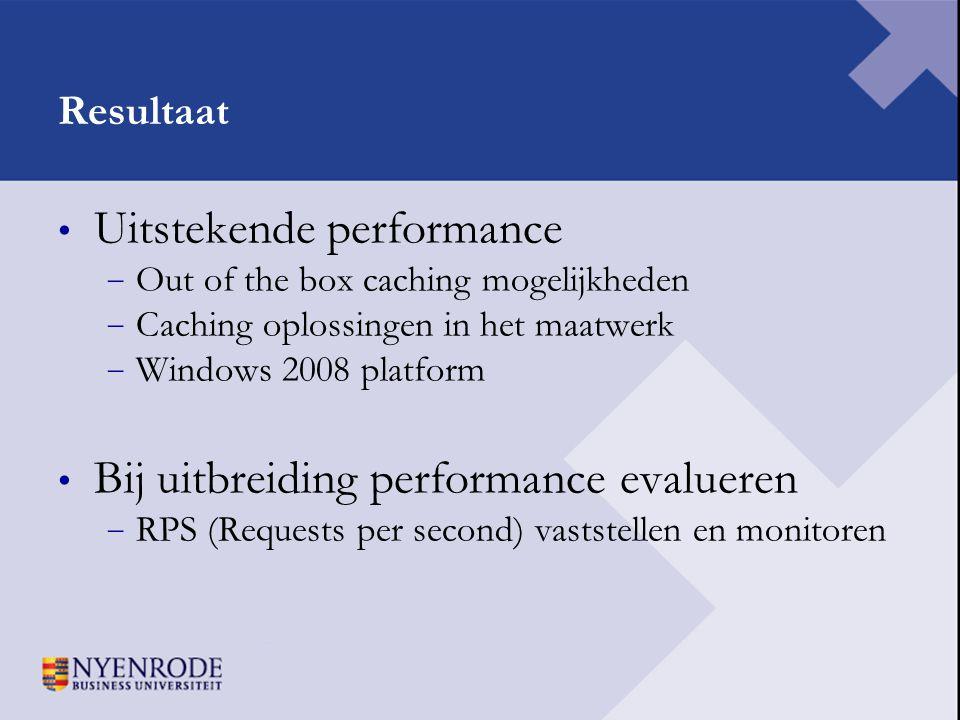 Uitstekende performance