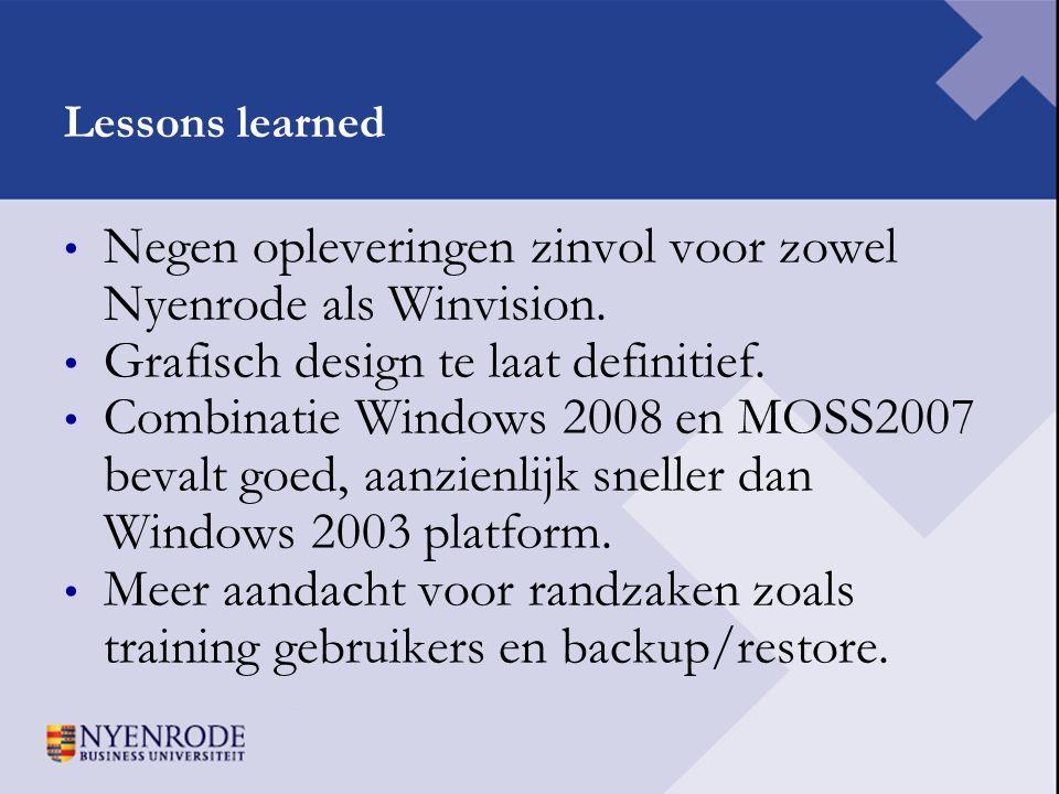 Negen opleveringen zinvol voor zowel Nyenrode als Winvision.