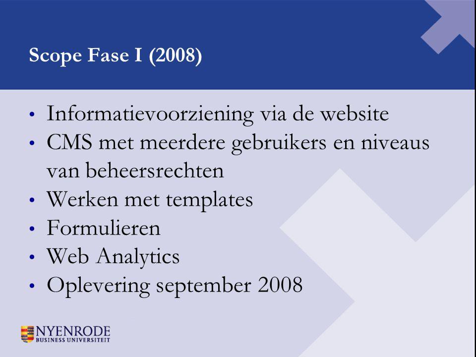 Informatievoorziening via de website