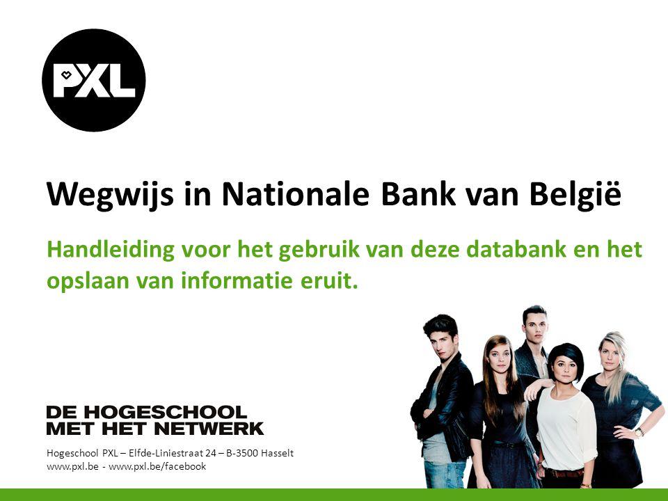 Wegwijs in Nationale Bank van België
