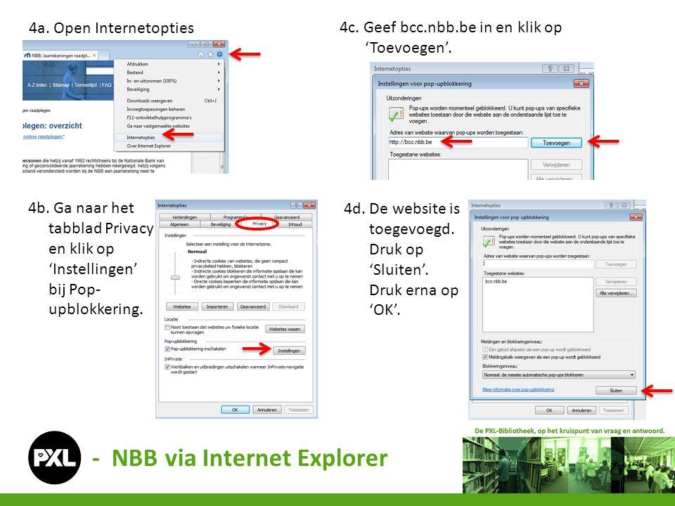 - NBB via Internet Explorer