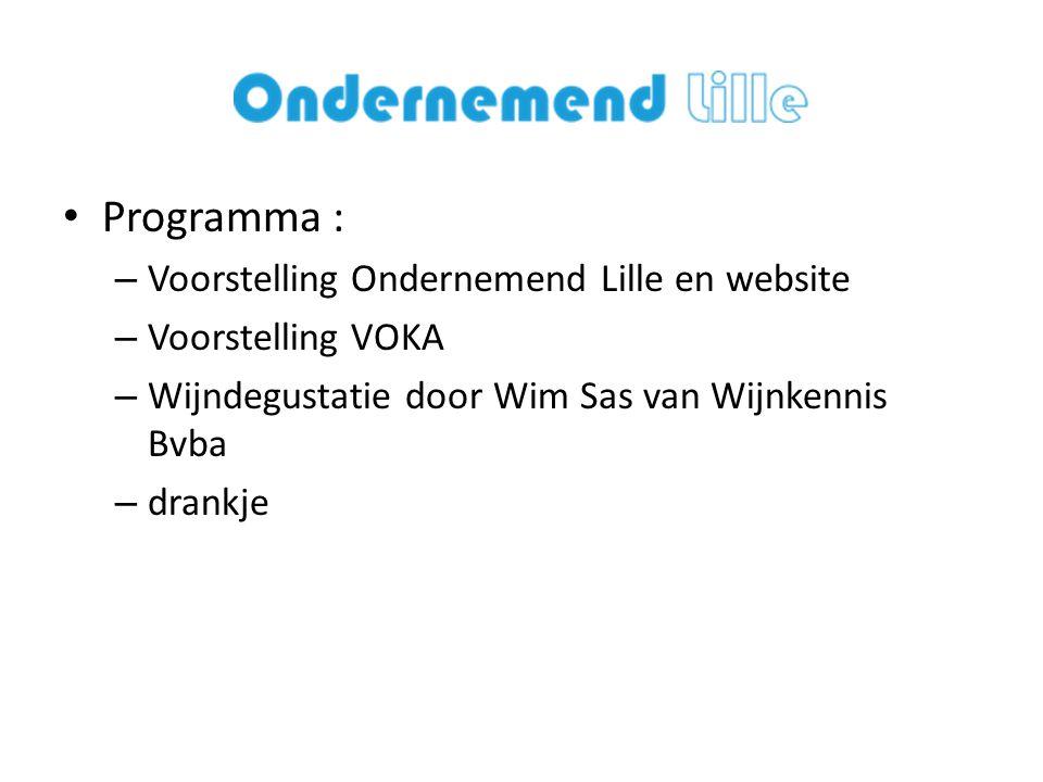 Programma : Voorstelling Ondernemend Lille en website