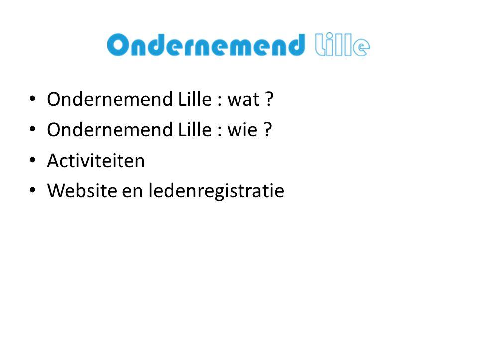 Ondernemend Lille : wat