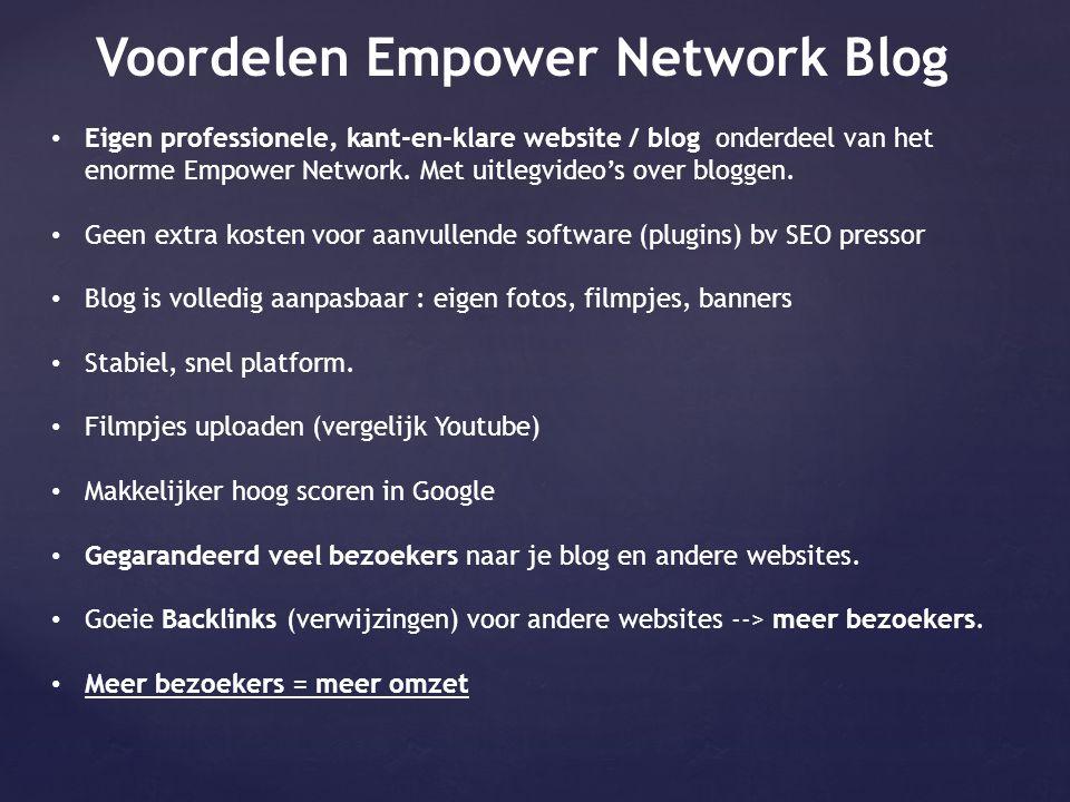 Voordelen Empower Network Blog