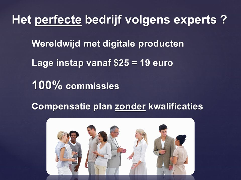 Het perfecte bedrijf volgens experts