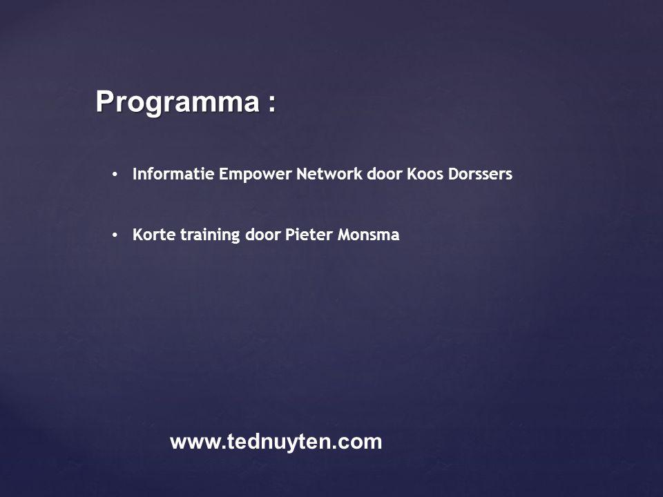 Programma : www.tednuyten.com
