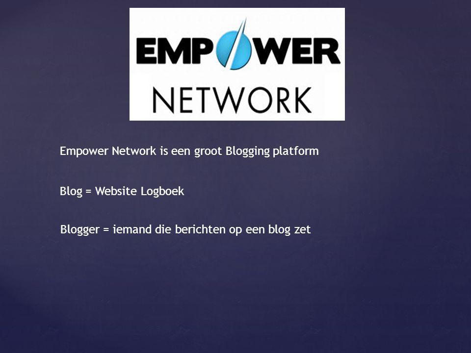 Empower Network is een groot Blogging platform