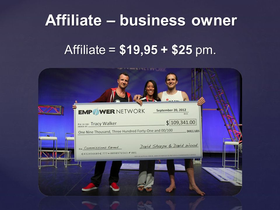 Affiliate – business owner