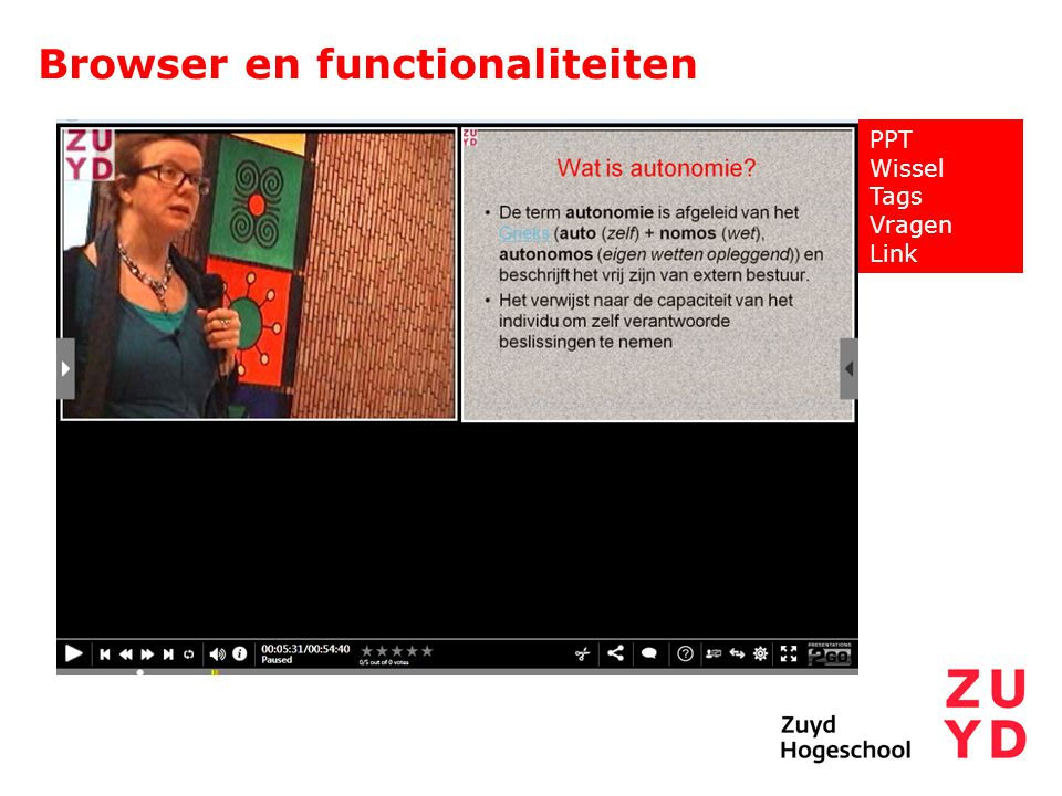 Browser en functionaliteiten