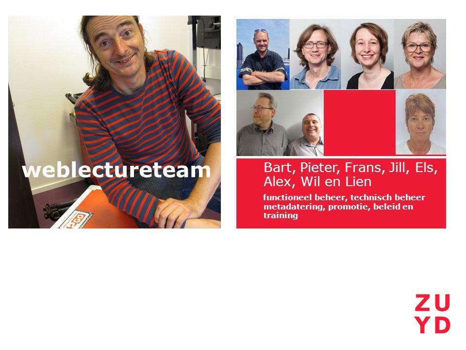 weblectureteam Bart, Pieter, Frans, Jill, Els,