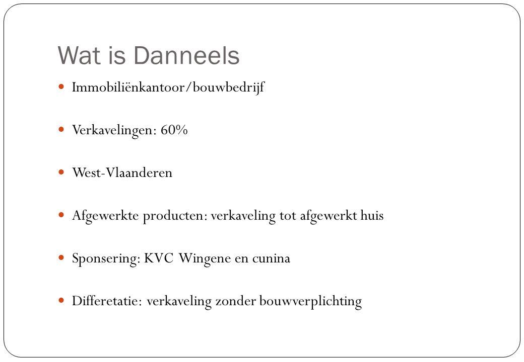 Wat is Danneels Immobiliënkantoor/bouwbedrijf Verkavelingen: 60%