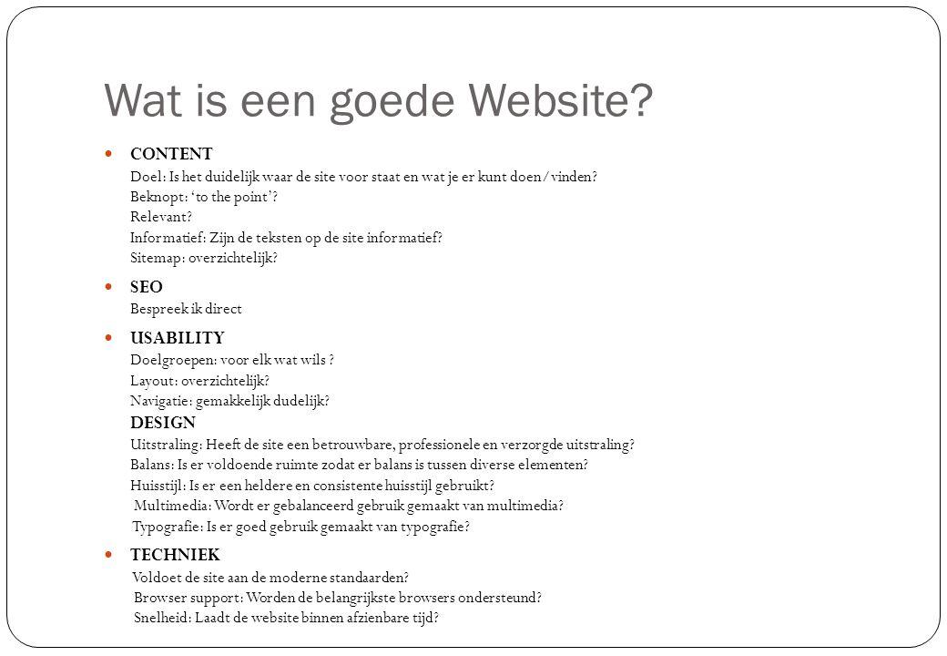 Wat is een goede Website
