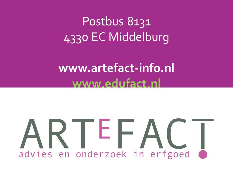 Postbus 8131 4330 EC Middelburg www. artefact-info. nl www. edufact