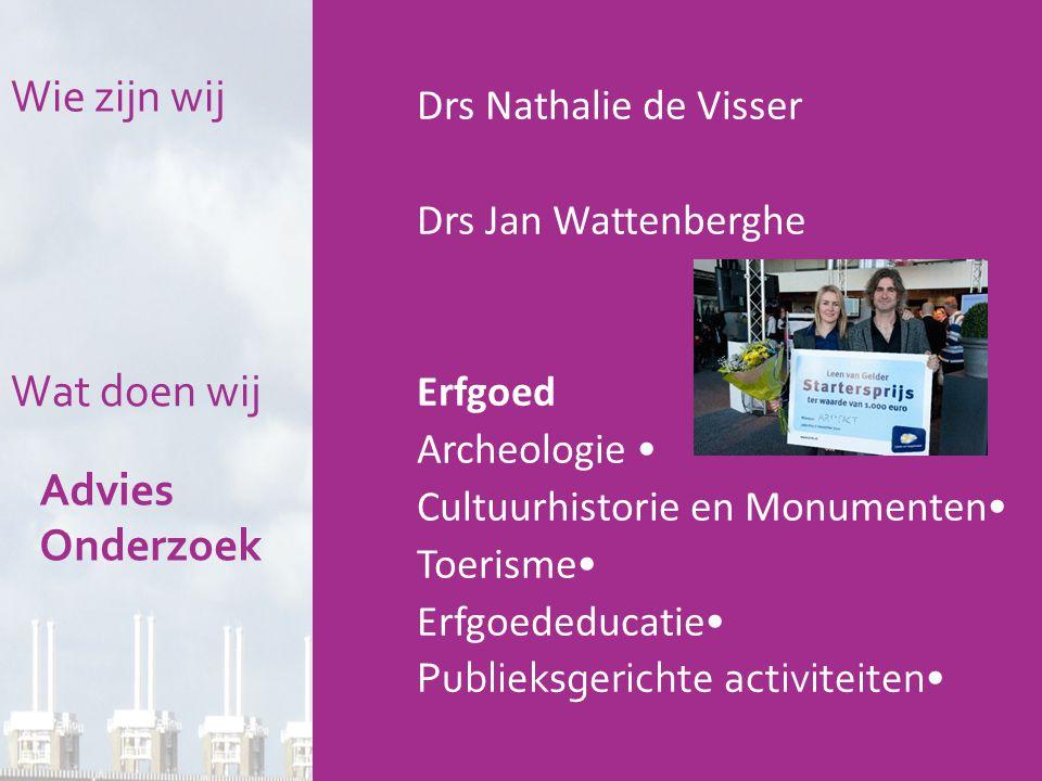 Wie zijn wij Wat doen wij Advies Onderzoek Drs Nathalie de Visser