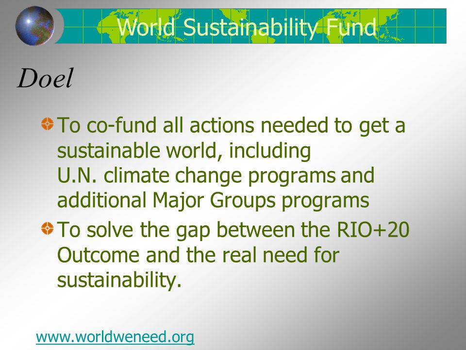 Doel World Sustainability Fund