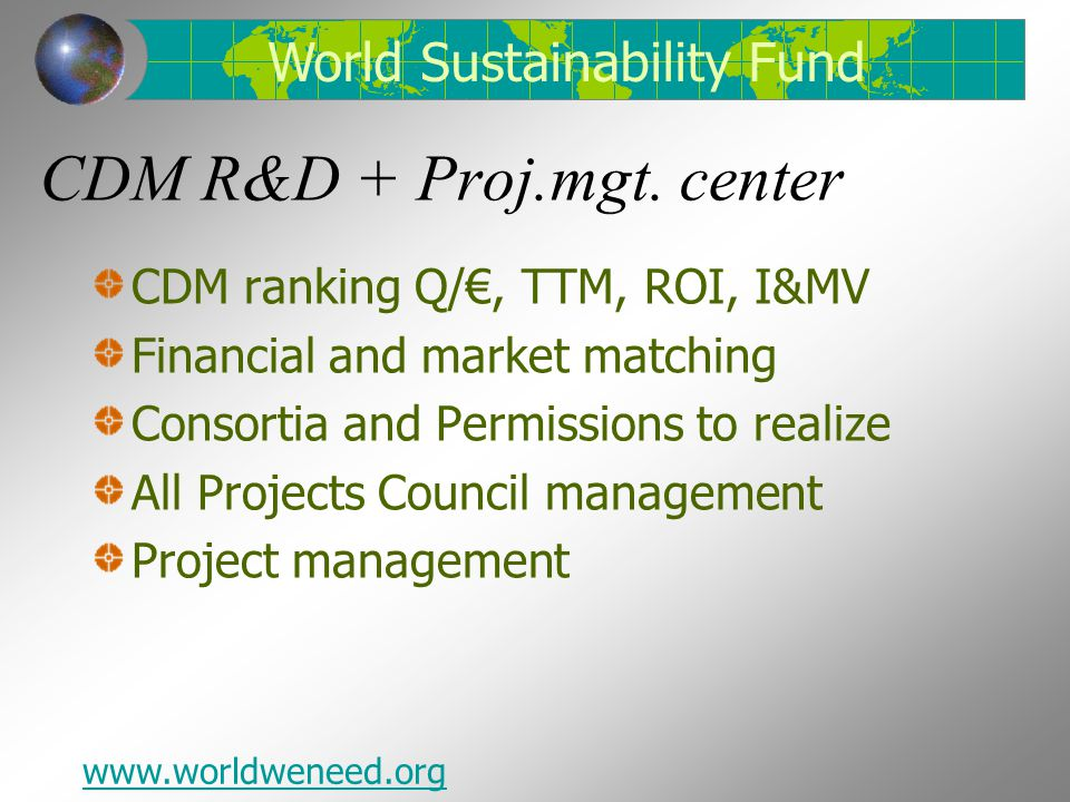 CDM R&D + Proj.mgt. center